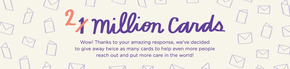 Hallmark 2 million cards giveaway graphic
